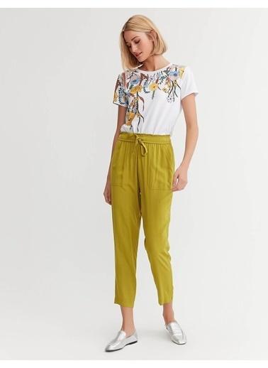 BGN Bgn Belı Lastıklı Vıskon Kadın Pantolon Sarı